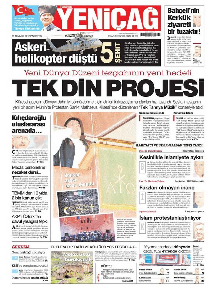 Gazete Manşetleri - 23 Temmuz 2012 20