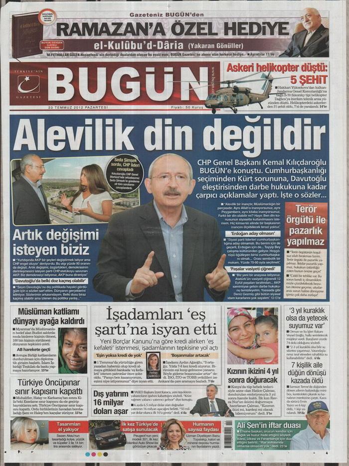 Gazete Manşetleri - 23 Temmuz 2012 3