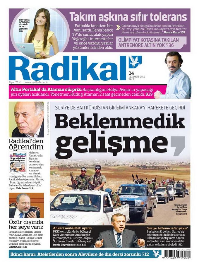 Gazete Manşetleri - 24 Temmuz 2012 12