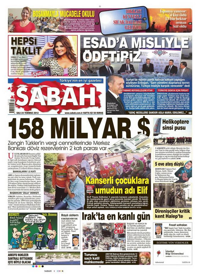 Gazete Manşetleri - 24 Temmuz 2012 13