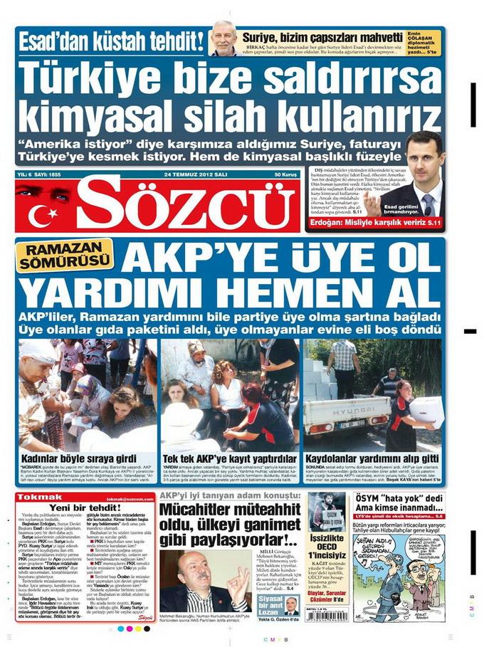 Gazete Manşetleri - 24 Temmuz 2012 14