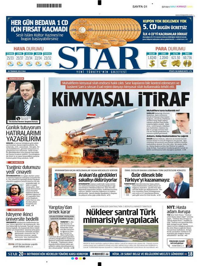 Gazete Manşetleri - 24 Temmuz 2012 15