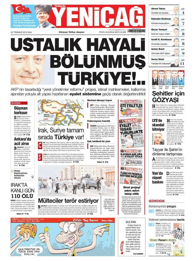 Gazete Manşetleri - 24 Temmuz 2012 19