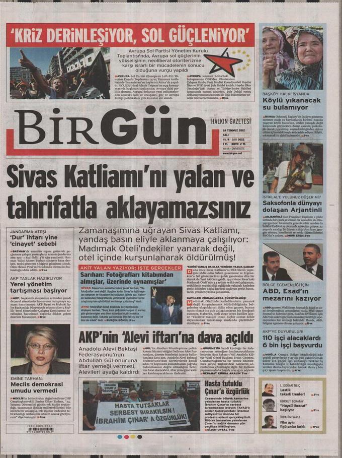 Gazete Manşetleri - 24 Temmuz 2012 2