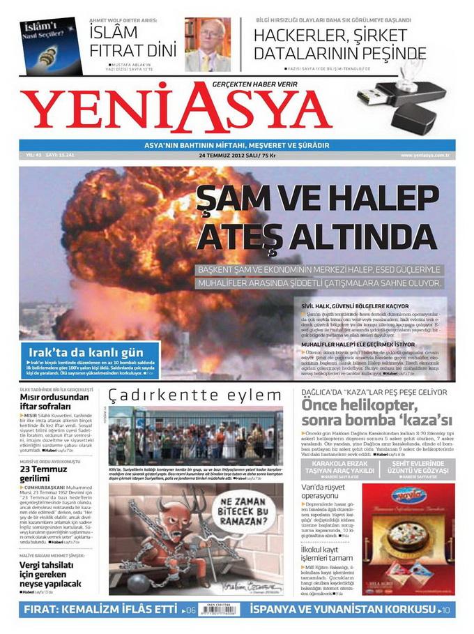 Gazete Manşetleri - 24 Temmuz 2012 22