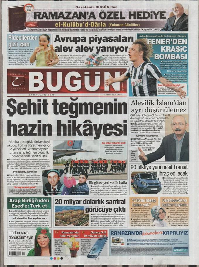 Gazete Manşetleri - 24 Temmuz 2012 3