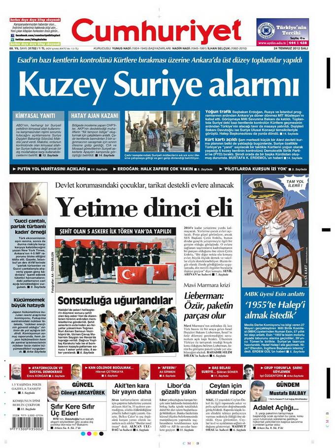 Gazete Manşetleri - 24 Temmuz 2012 4