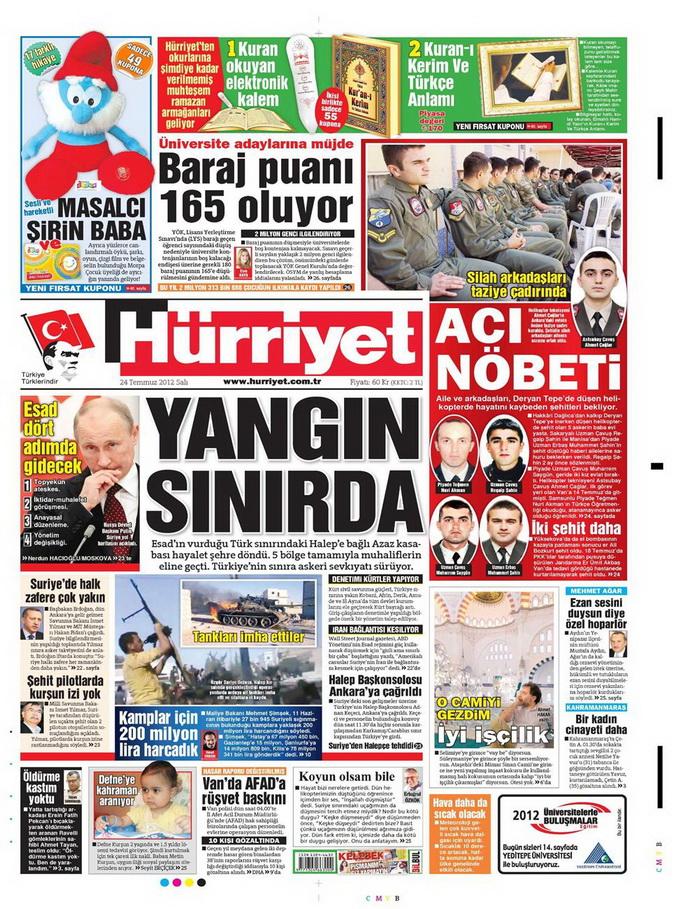 Gazete Manşetleri - 24 Temmuz 2012 7