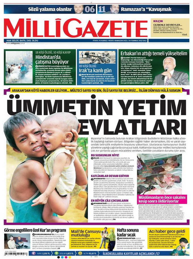 Gazete Manşetleri - 24 Temmuz 2012 8