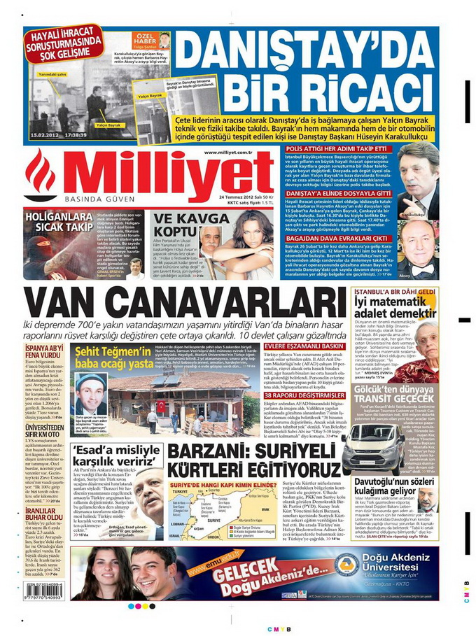 Gazete Manşetleri - 24 Temmuz 2012 9