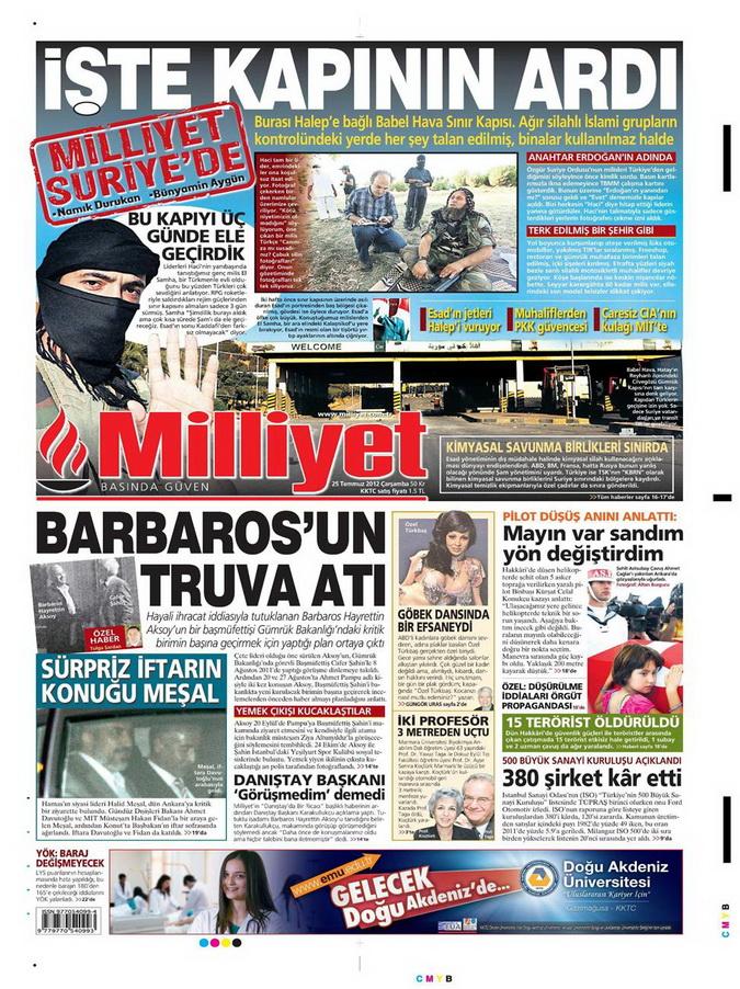 Gazete Manşetleri - 25 Temmuz 2012 10