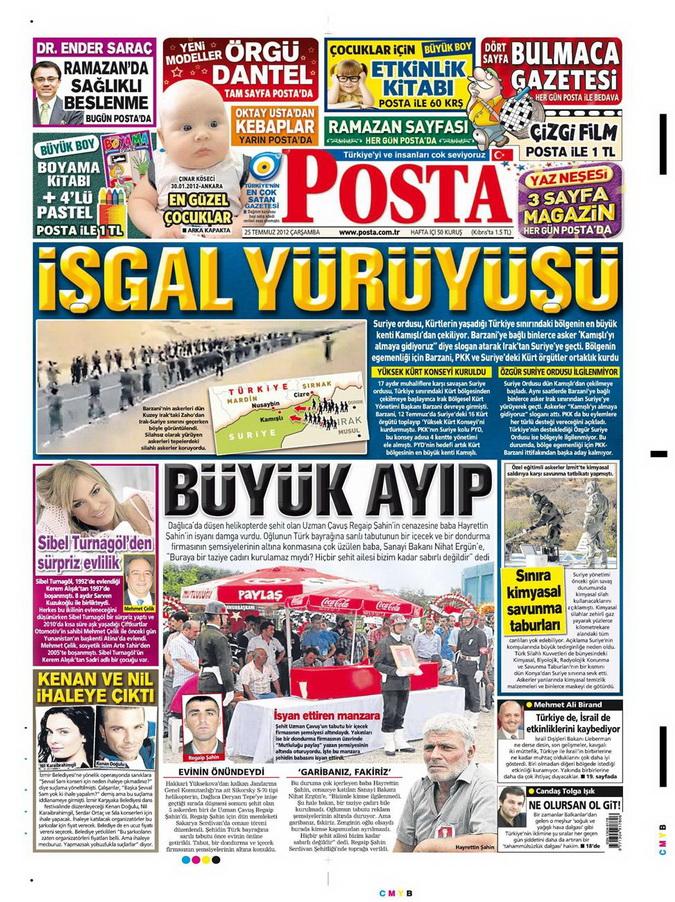 Gazete Manşetleri - 25 Temmuz 2012 12