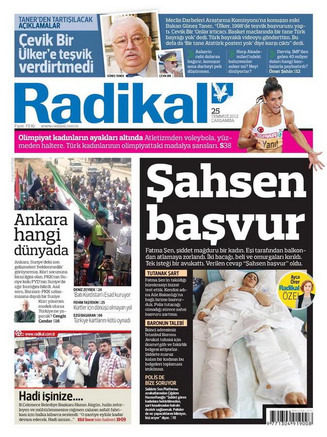 Gazete Manşetleri - 25 Temmuz 2012 13