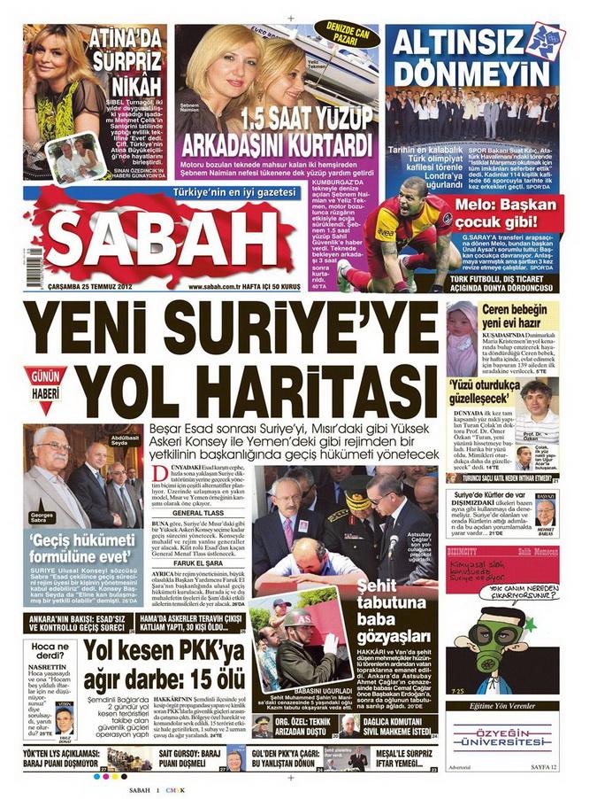 Gazete Manşetleri - 25 Temmuz 2012 14