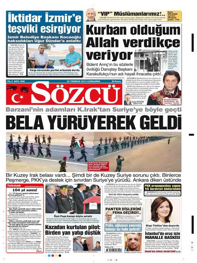 Gazete Manşetleri - 25 Temmuz 2012 15