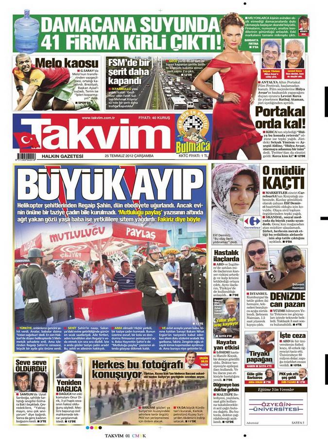 Gazete Manşetleri - 25 Temmuz 2012 17