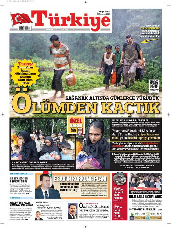 Gazete Manşetleri - 25 Temmuz 2012 19