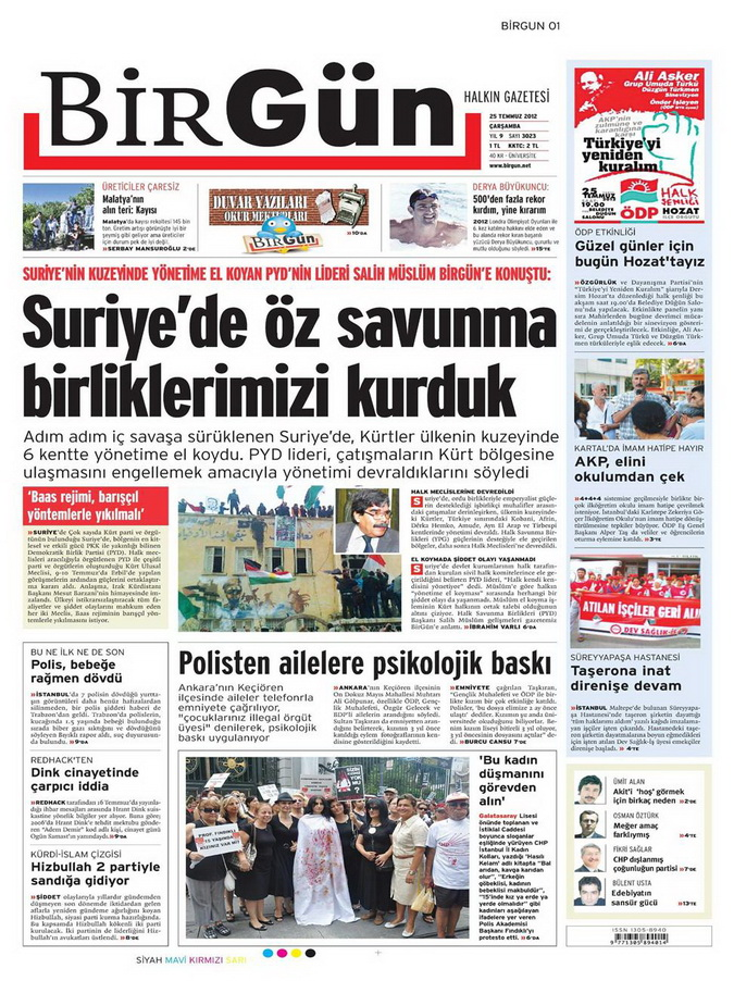 Gazete Manşetleri - 25 Temmuz 2012 2