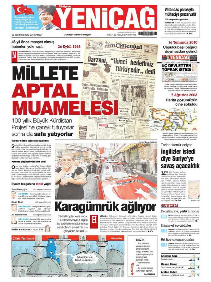 Gazete Manşetleri - 25 Temmuz 2012 20