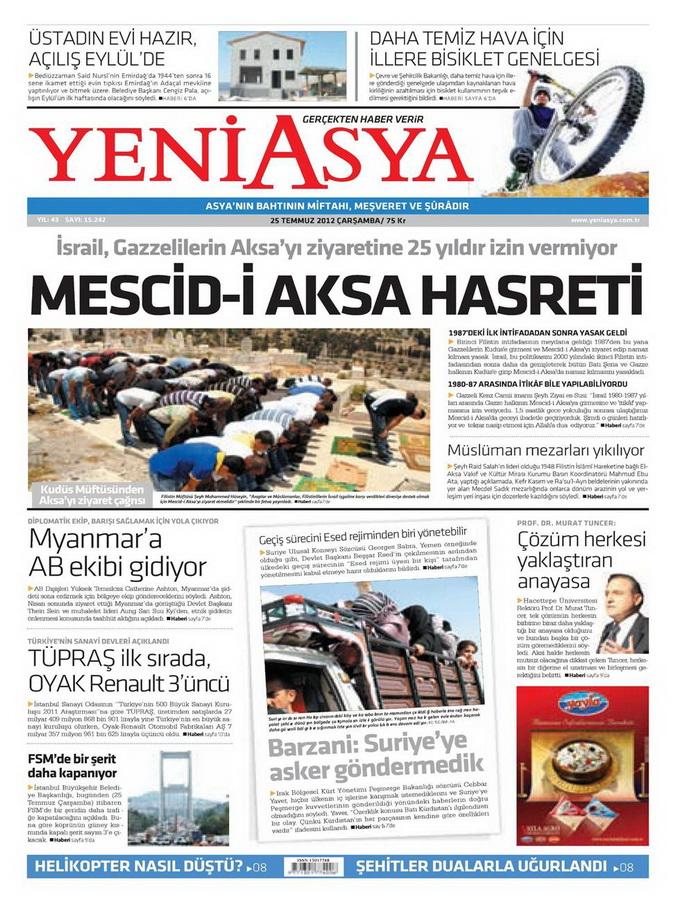 Gazete Manşetleri - 25 Temmuz 2012 23