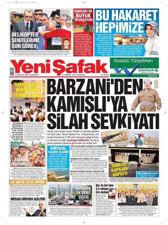 Gazete Manşetleri - 25 Temmuz 2012 24