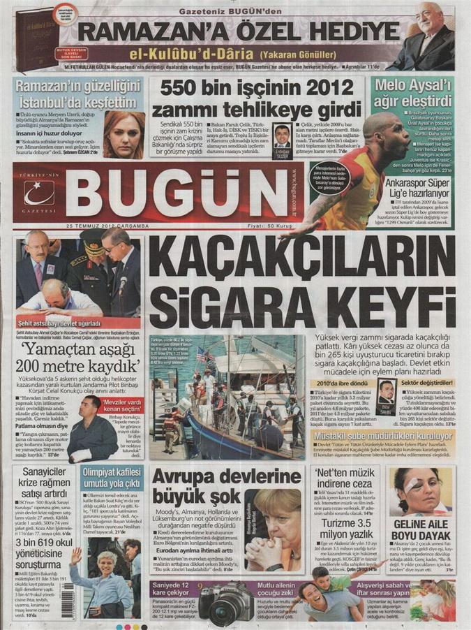 Gazete Manşetleri - 25 Temmuz 2012 3