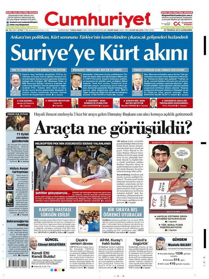 Gazete Manşetleri - 25 Temmuz 2012 4
