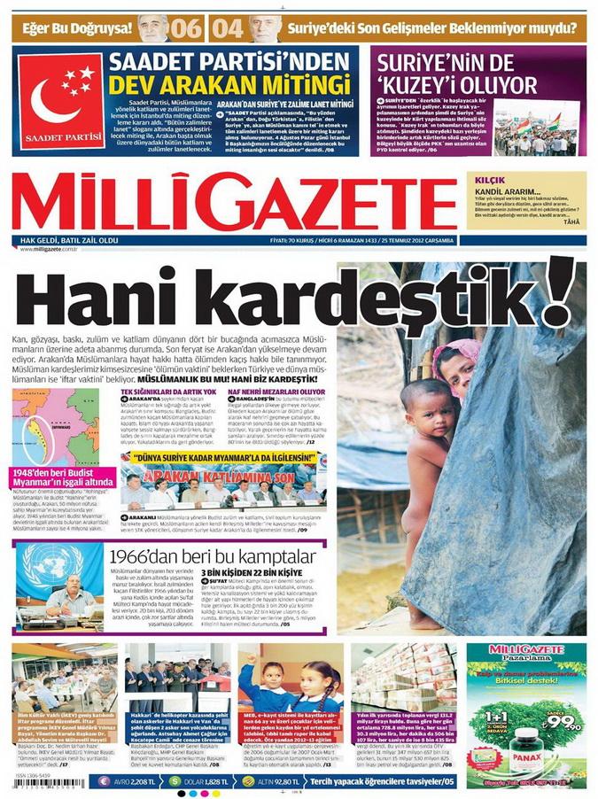 Gazete Manşetleri - 25 Temmuz 2012 9
