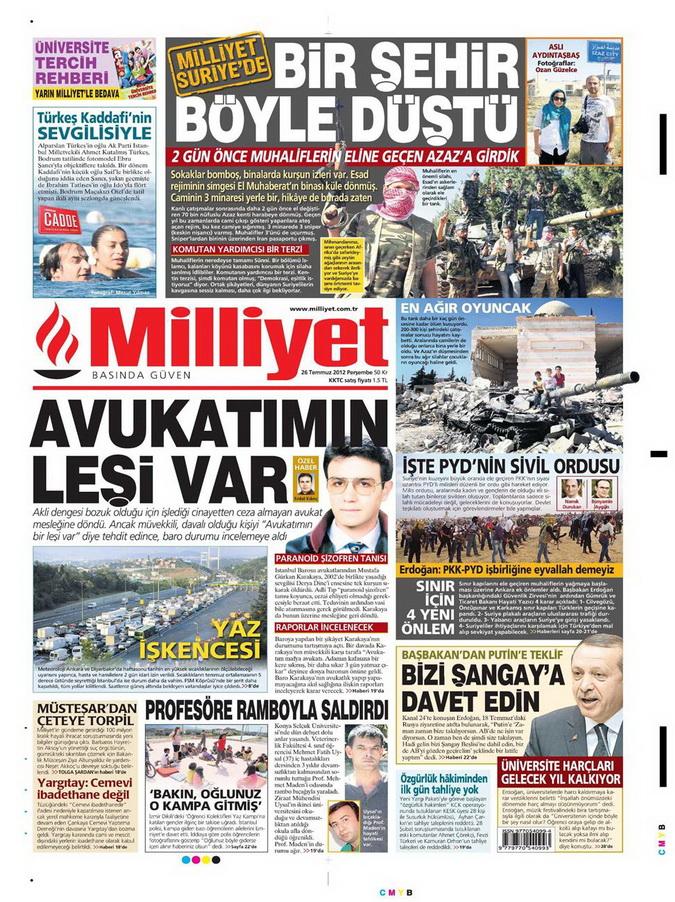 Gazete Manşetleri - 26 Temmuz 2012 10