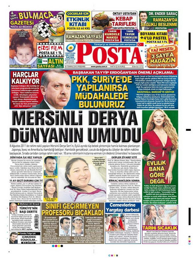Gazete Manşetleri - 26 Temmuz 2012 12