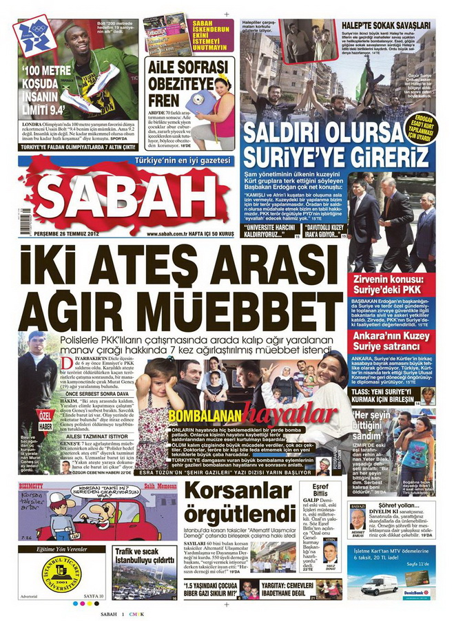 Gazete Manşetleri - 26 Temmuz 2012 14