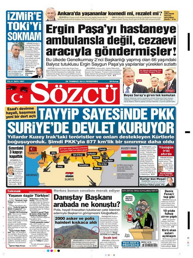 Gazete Manşetleri - 26 Temmuz 2012 15