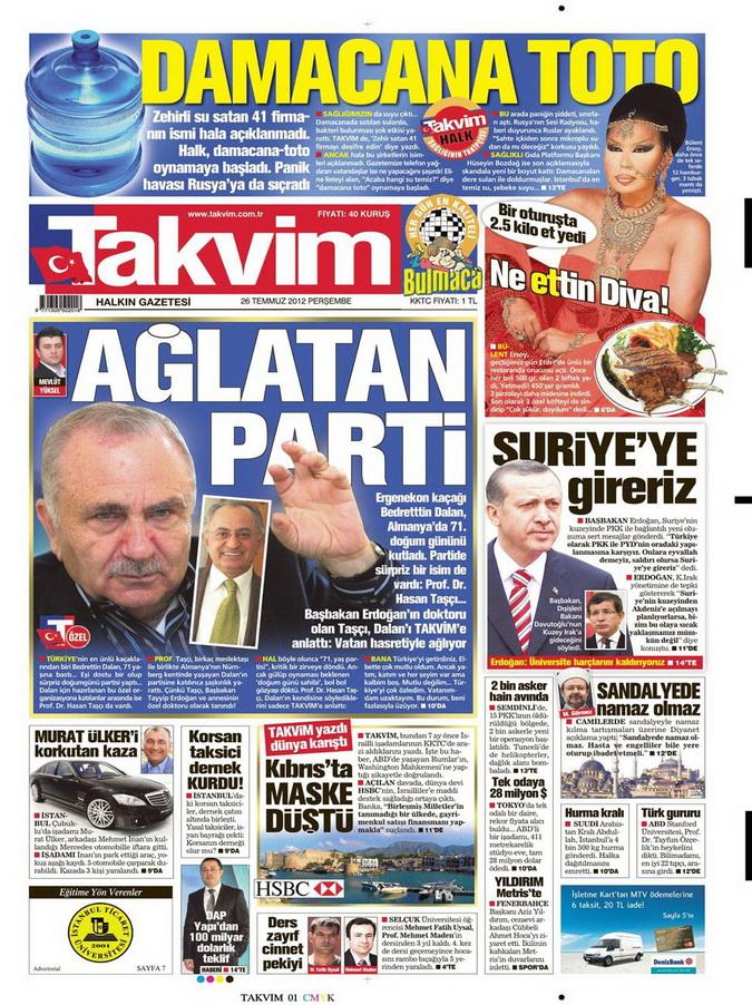 Gazete Manşetleri - 26 Temmuz 2012 17
