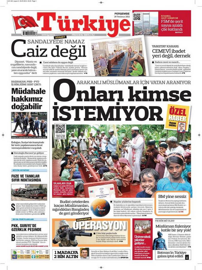 Gazete Manşetleri - 26 Temmuz 2012 19