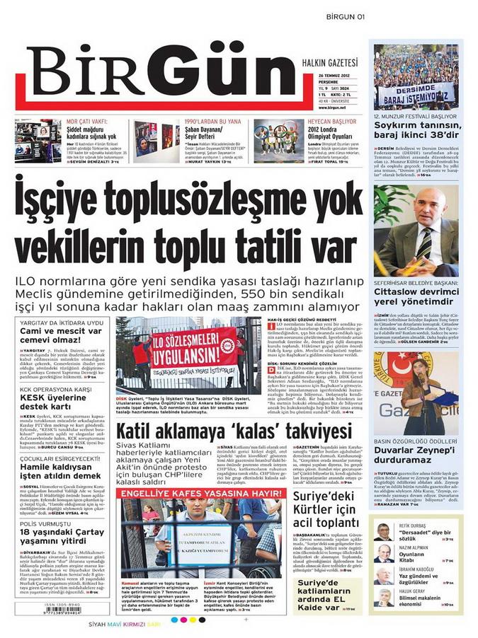 Gazete Manşetleri - 26 Temmuz 2012 2
