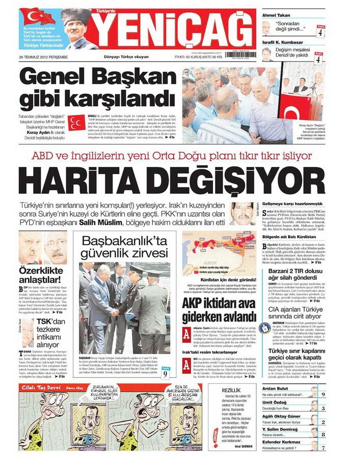 Gazete Manşetleri - 26 Temmuz 2012 20