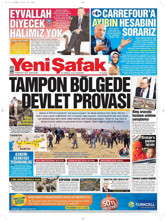 Gazete Manşetleri - 26 Temmuz 2012 24