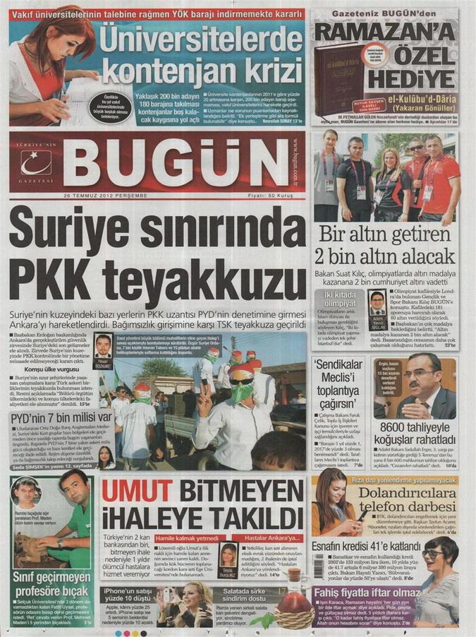 Gazete Manşetleri - 26 Temmuz 2012 3
