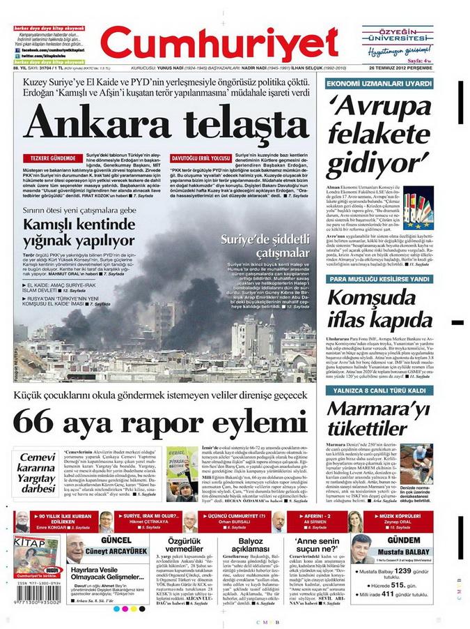 Gazete Manşetleri - 26 Temmuz 2012 4