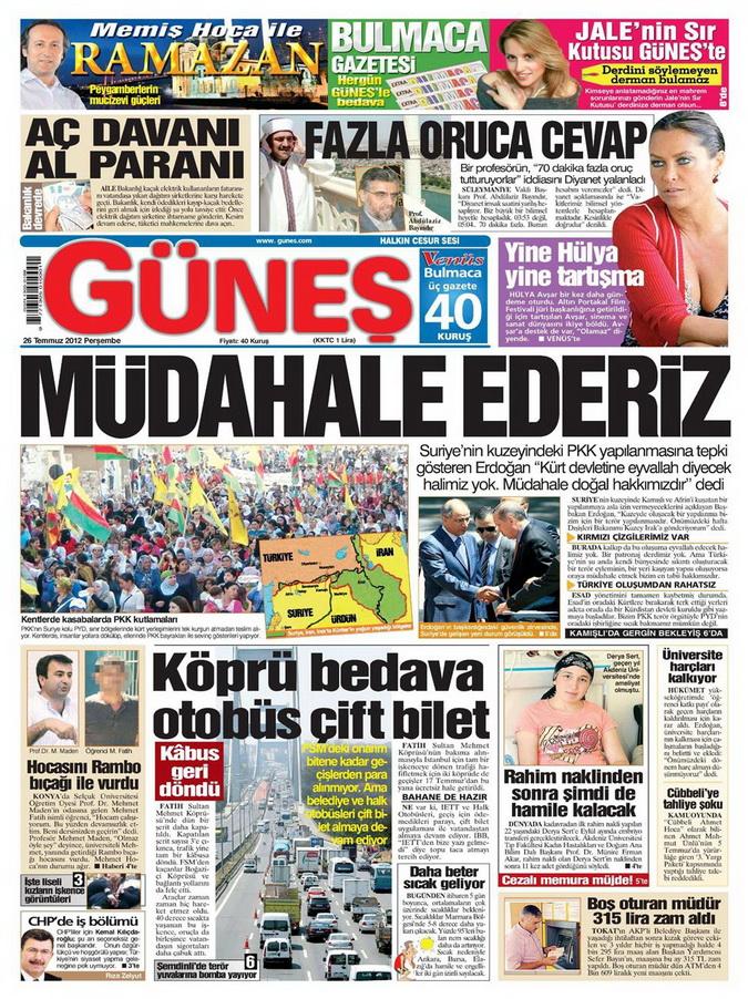 Gazete Manşetleri - 26 Temmuz 2012 5