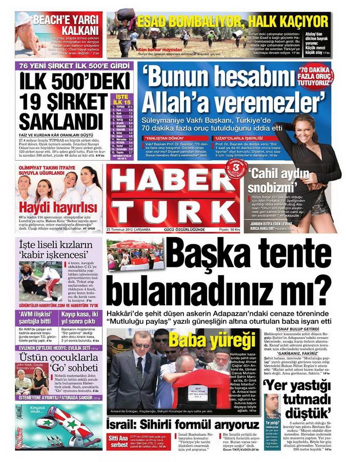 Gazete Manşetleri - 26 Temmuz 2012 6