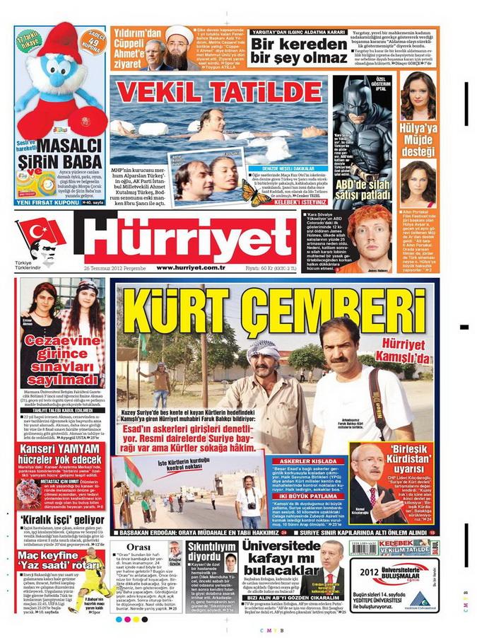 Gazete Manşetleri - 26 Temmuz 2012 7