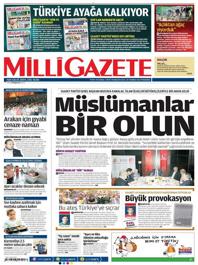 Gazete Manşetleri - 26 Temmuz 2012 9