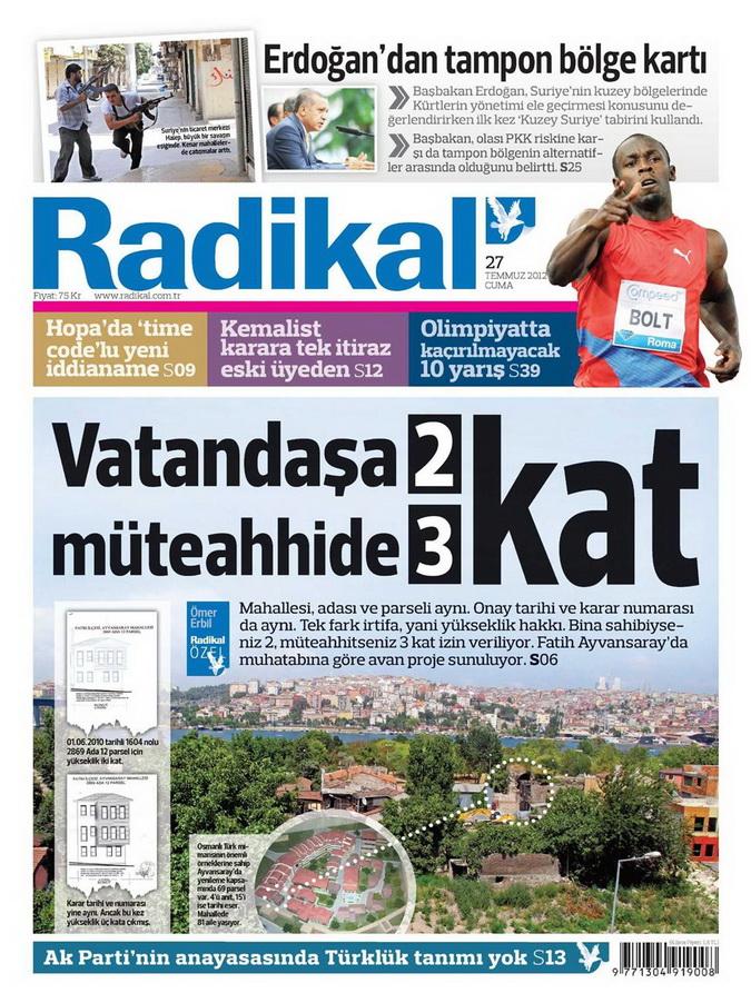Gazete Manşetleri - 27 Temmuz 2012 11