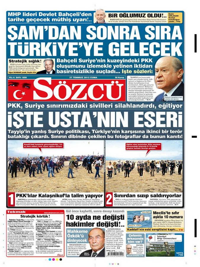 Gazete Manşetleri - 27 Temmuz 2012 13