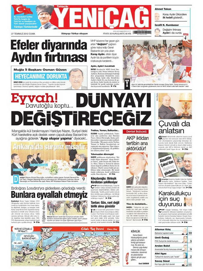 Gazete Manşetleri - 27 Temmuz 2012 18