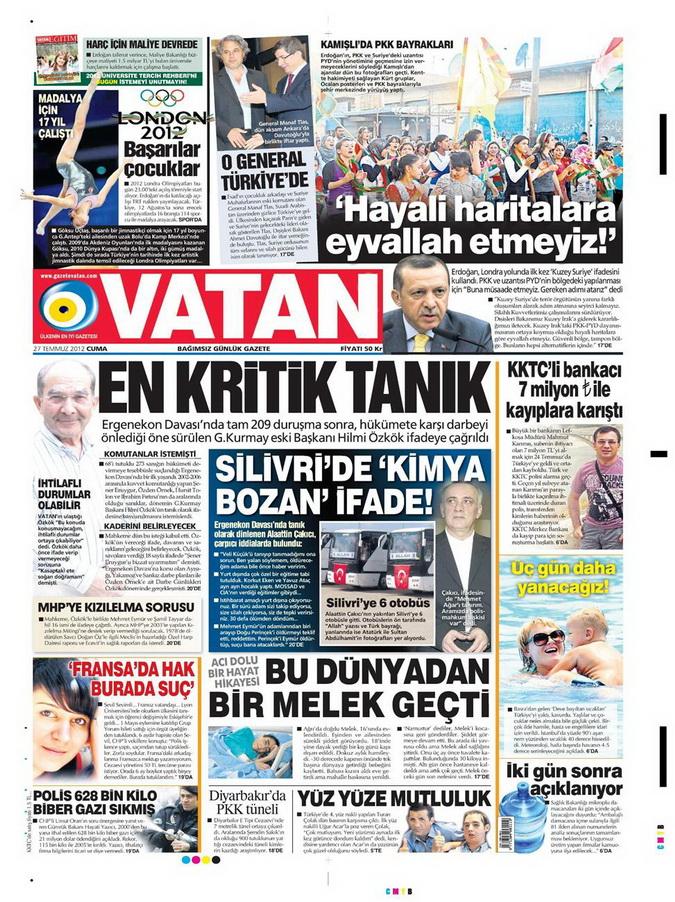 Gazete Manşetleri - 27 Temmuz 2012 19