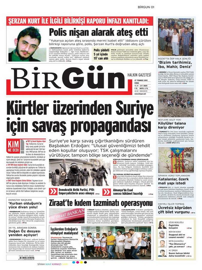 Gazete Manşetleri - 27 Temmuz 2012 2