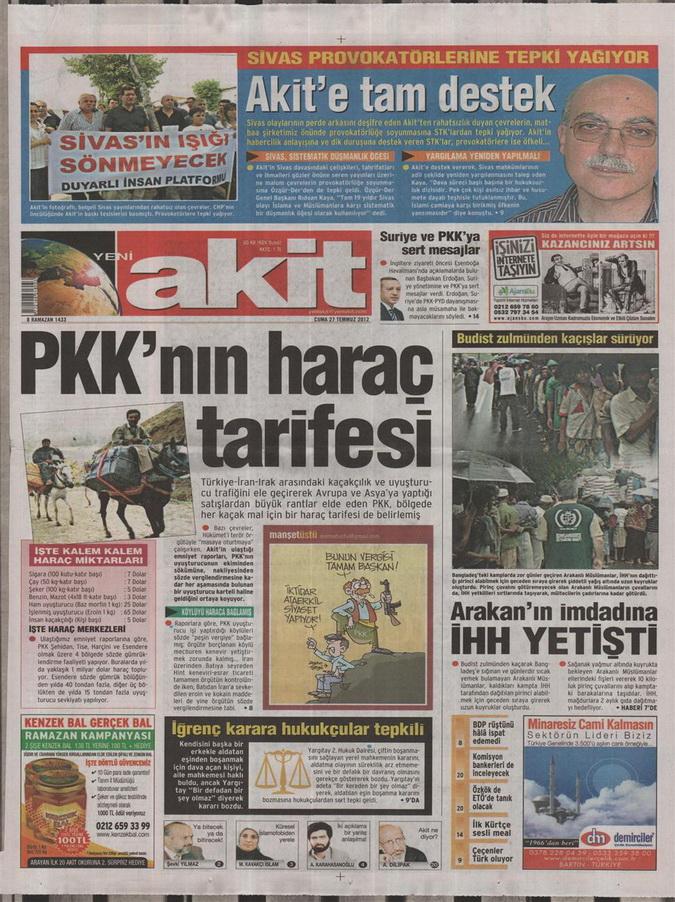 Gazete Manşetleri - 27 Temmuz 2012 20