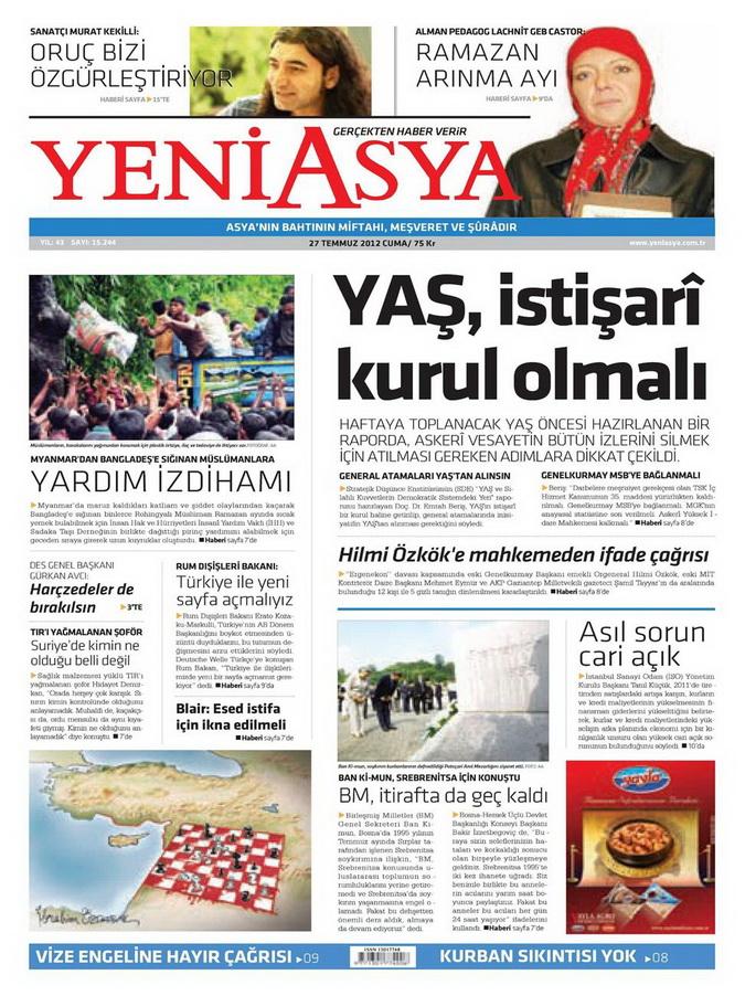 Gazete Manşetleri - 27 Temmuz 2012 21
